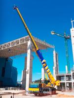 Os equipamentos da Cunzolo na obra de ampliação da Novelis de Pindamonhangaba/SP