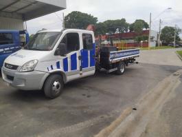 Nova identidade visual do caminhão de remoção