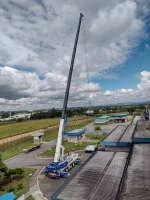 Locação de Guindaste ATF 220: substituição de geradores em indústria alimentícia