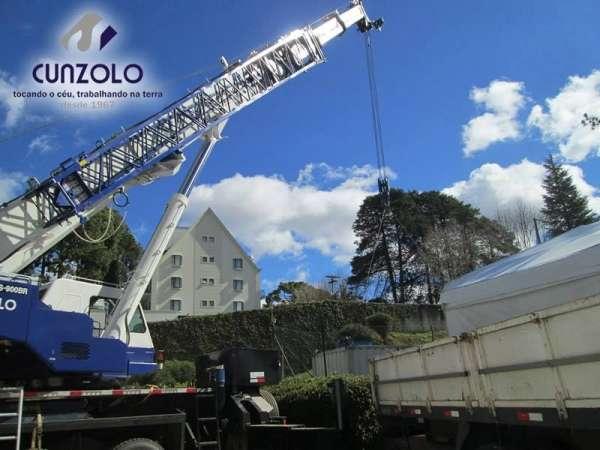 A Cunzolo realizou o içamento de um container de 10 toneladas. O trabalho foi realizado com o Guindaste Rodoviário Tadano GS 900 BR.A operação foi realizada de forma segura.
