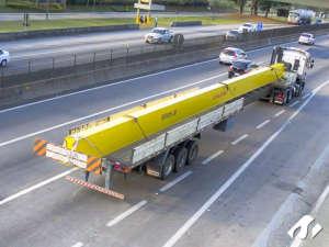 Transporte de Viga de Ponte Rolante de Cotia para Taubaté-SP.