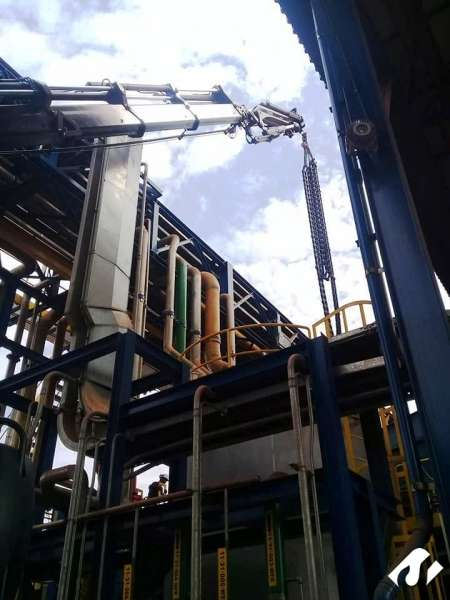 Operação de Içamento na cidade de Três Lagoas-MS.